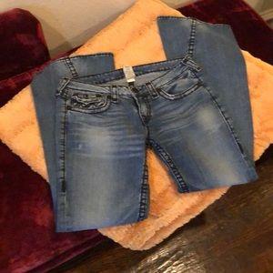 Flare size 32 true Religion jeans. Joey cut.